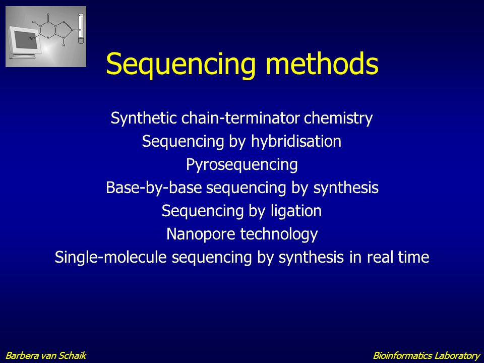 Sequencing methods Synthetic chain-terminator chemistry