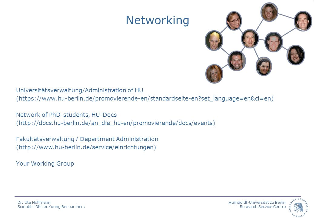 Networking Universitätsverwaltung/Administration of HU