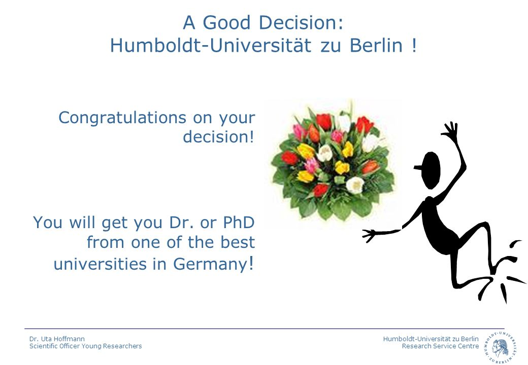 A Good Decision: Humboldt-Universität zu Berlin !