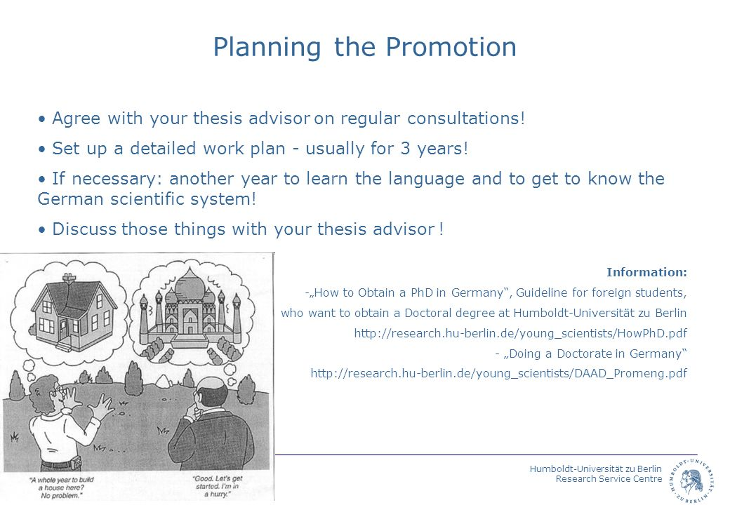 Planning the Promotion
