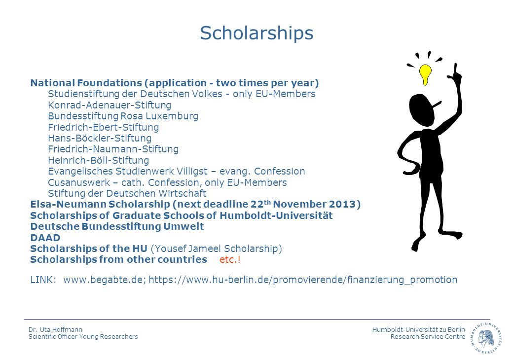 Scholarships National Foundations (application - two times per year)