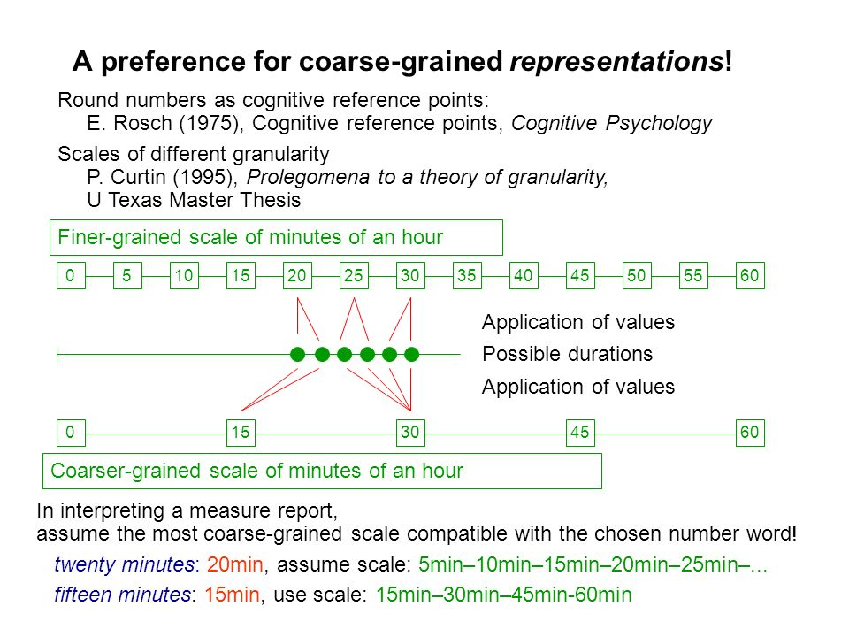 A preference for coarse-grained representations!