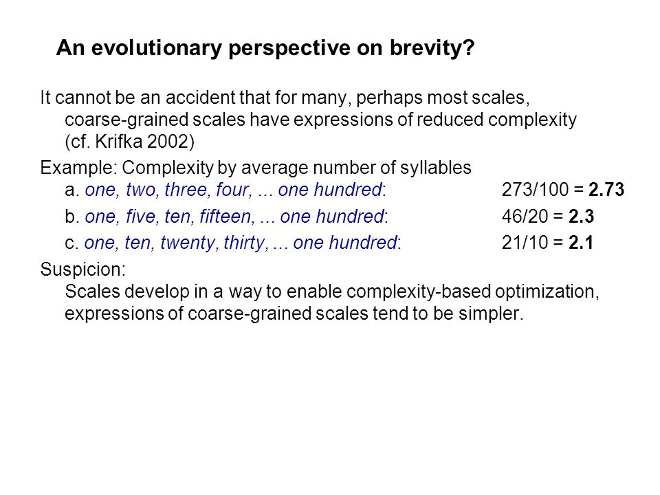 An evolutionary perspective on brevity
