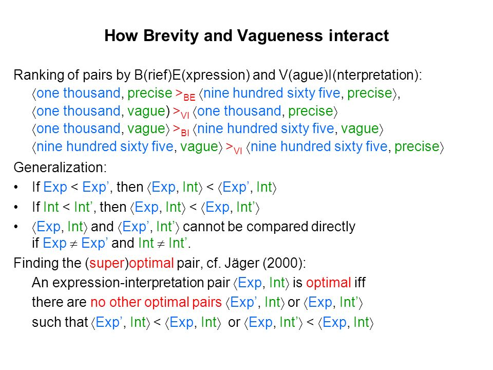How Brevity and Vagueness interact