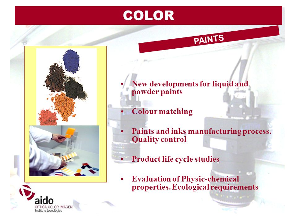 COLOR PAINTS New developments for liquid and powder paints