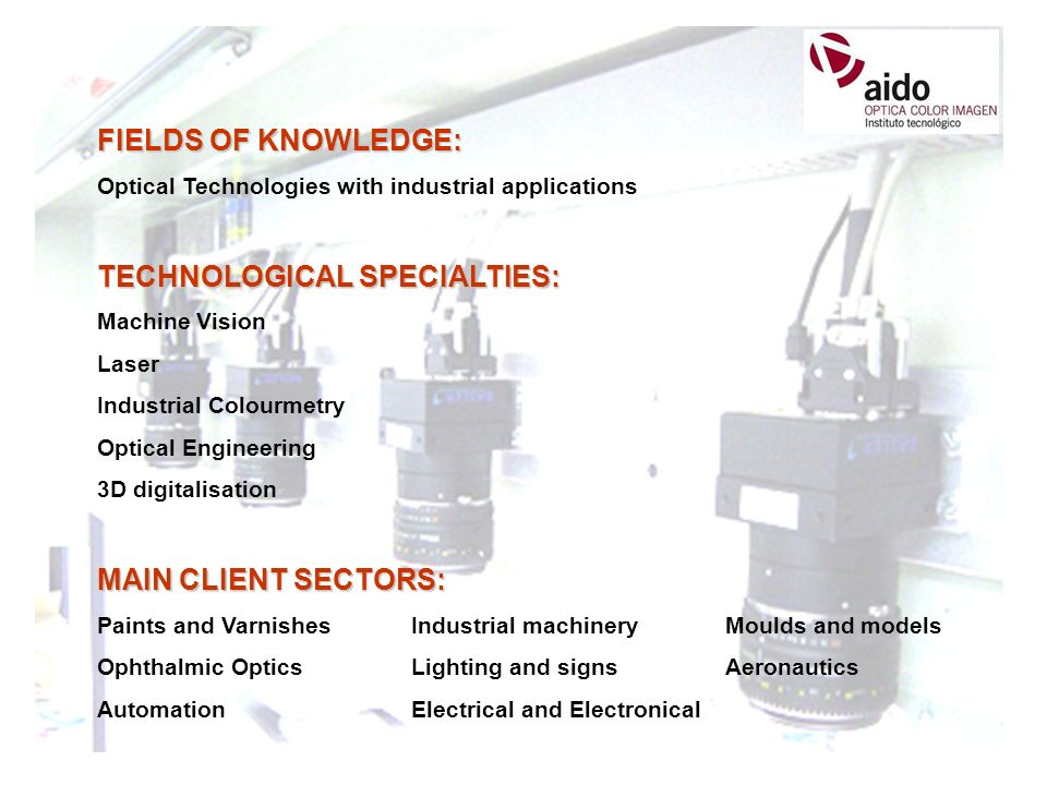 TECHNOLOGICAL SPECIALTIES: