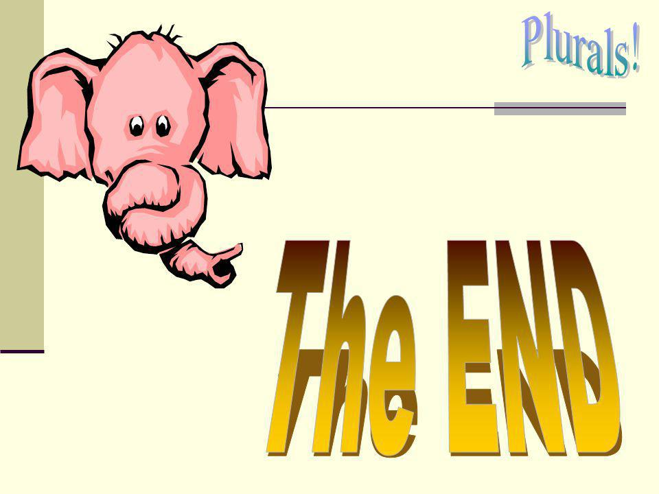 Plurals! The END