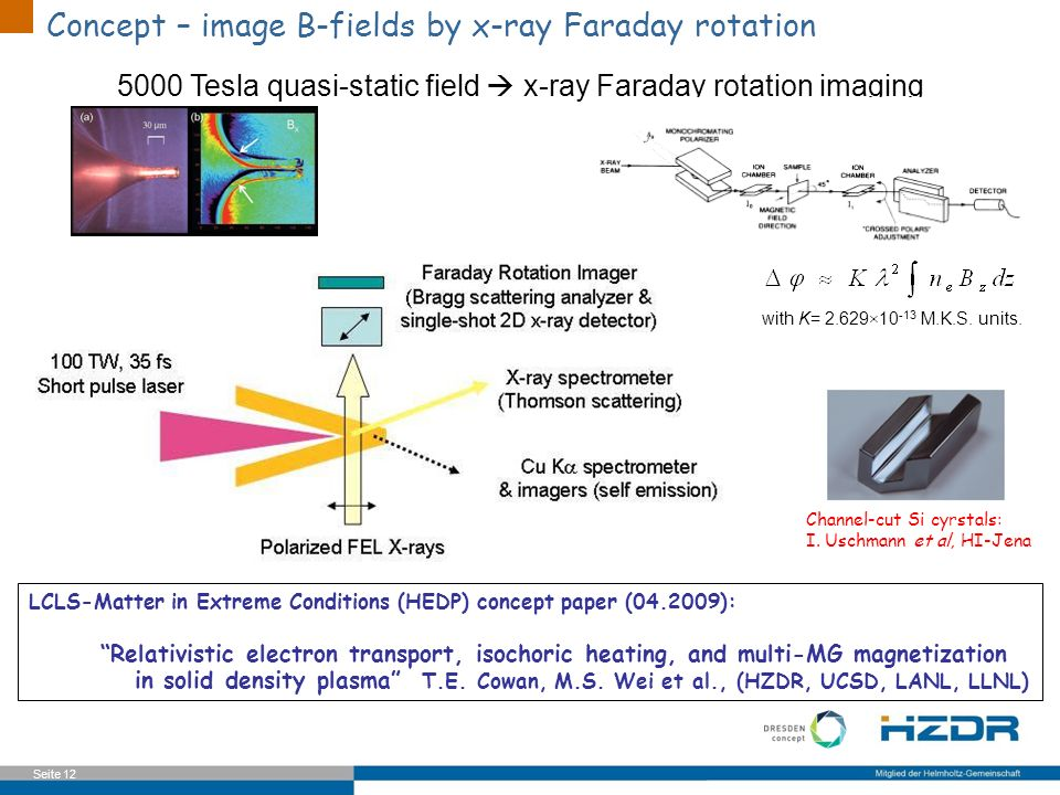 Extreme Ex Concept – image B-fields by x-ray Faraday rotation