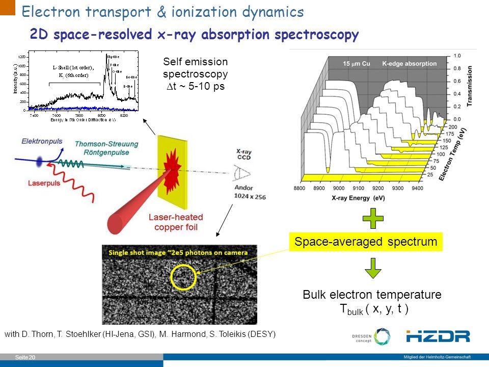 Electron transport & ionization dynamics