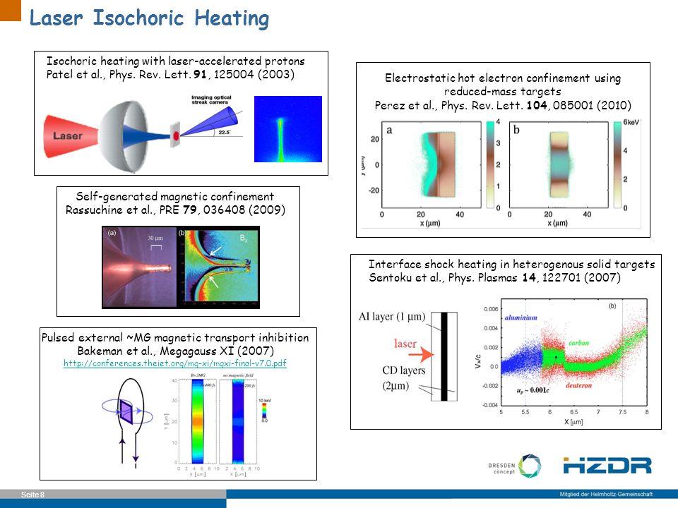 Laser Isochoric Heating
