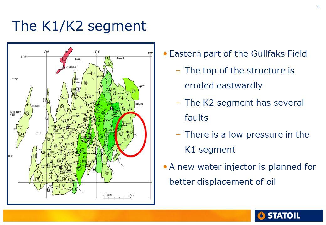 The K1/K2 segment Eastern part of the Gullfaks Field