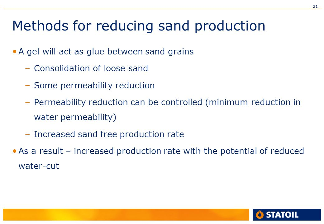 Methods for reducing sand production