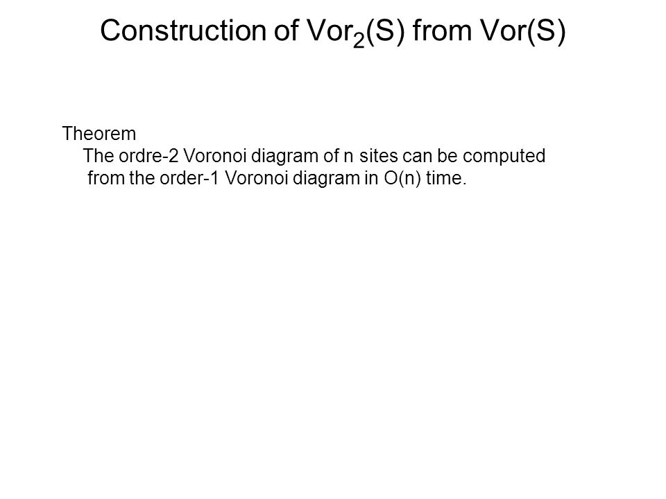 Construction of Vor2(S) from Vor(S)