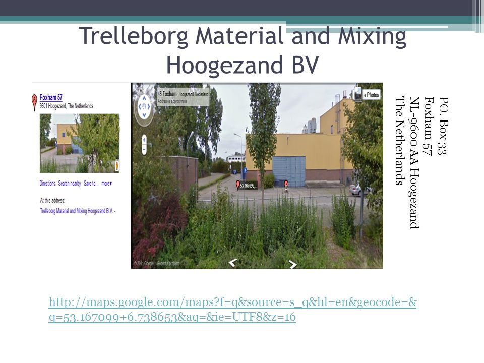 Trelleborg Material and Mixing Hoogezand BV