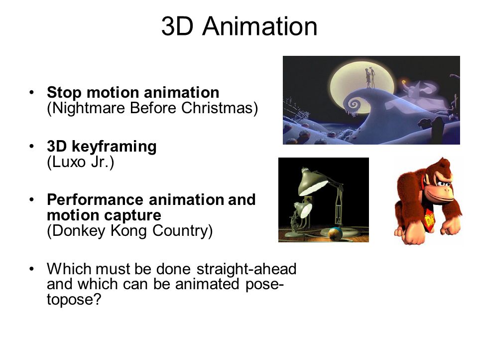 3D Animation Stop motion animation (Nightmare Before Christmas)