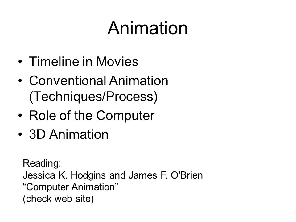 Animation Timeline in Movies