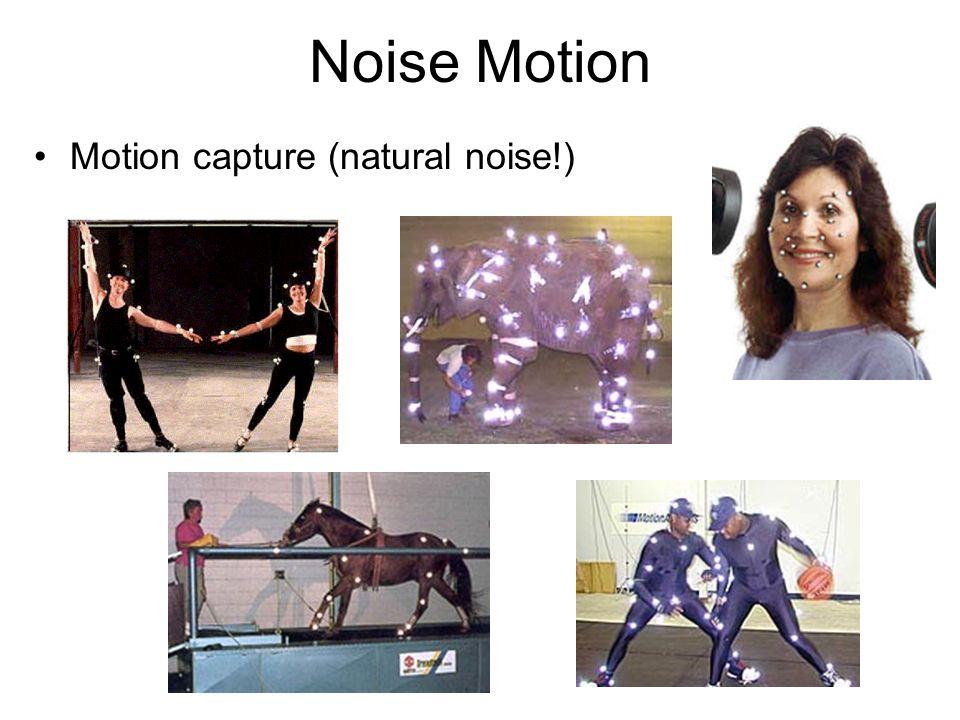 Noise Motion Motion capture (natural noise!)