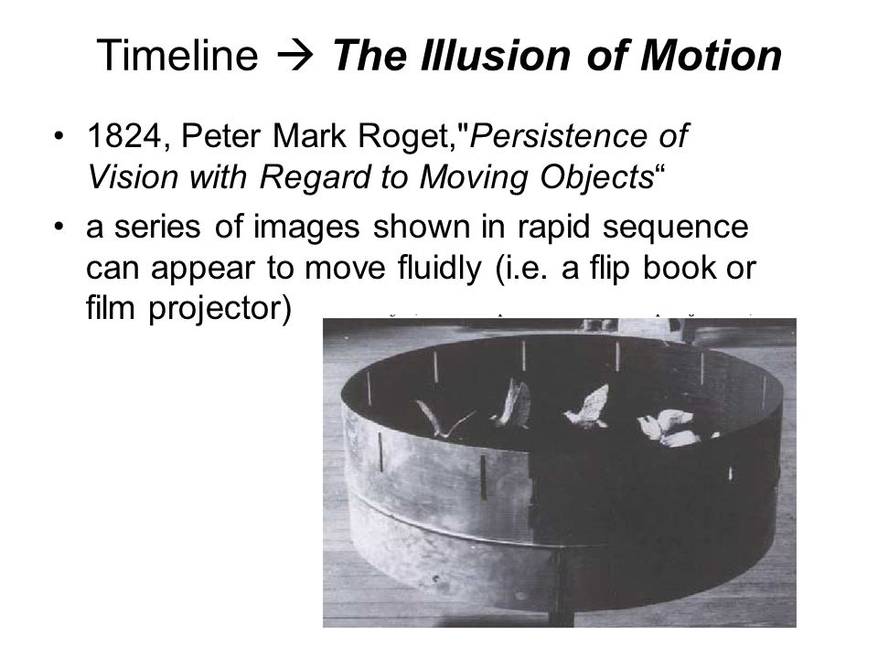 Timeline  The Illusion of Motion
