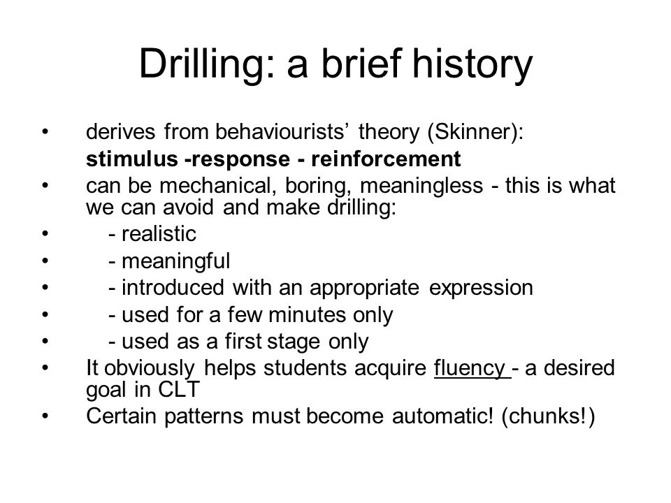 Drilling: a brief history