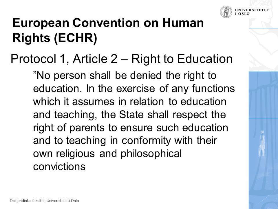 European Convention on Human Rights (ECHR)