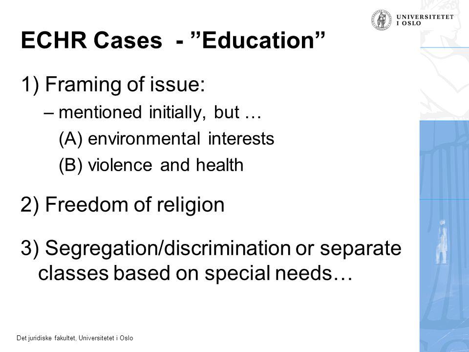 ECHR Cases - Education
