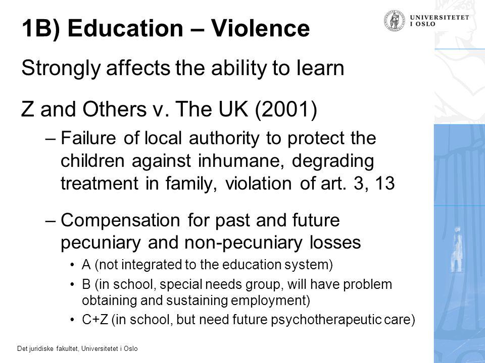 1B) Education – Violence