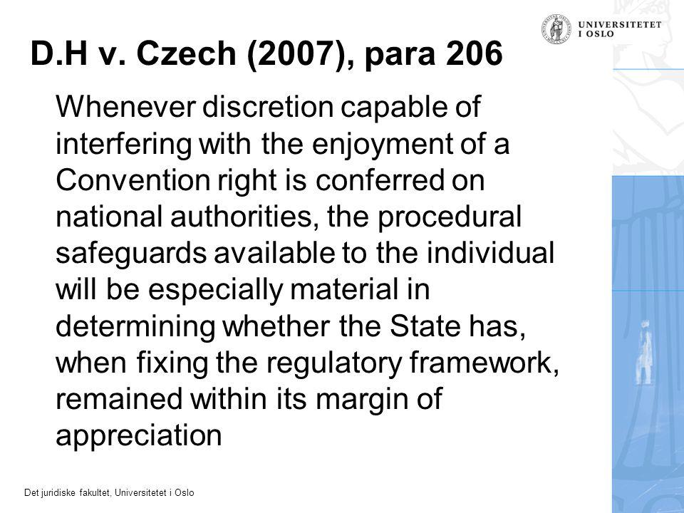 D.H v. Czech (2007), para 206