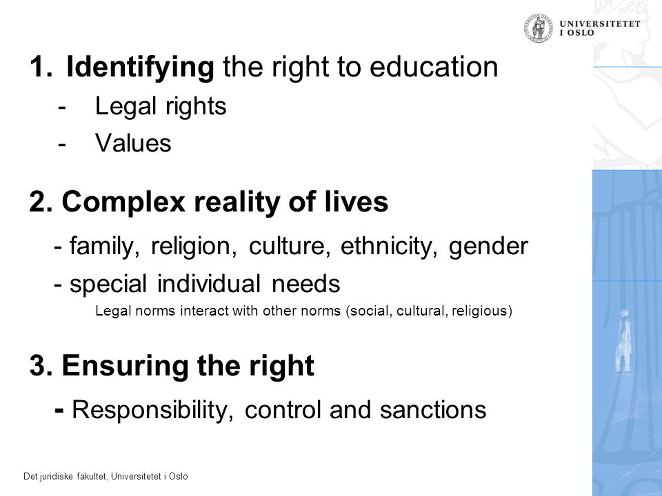 Identifying the right to education