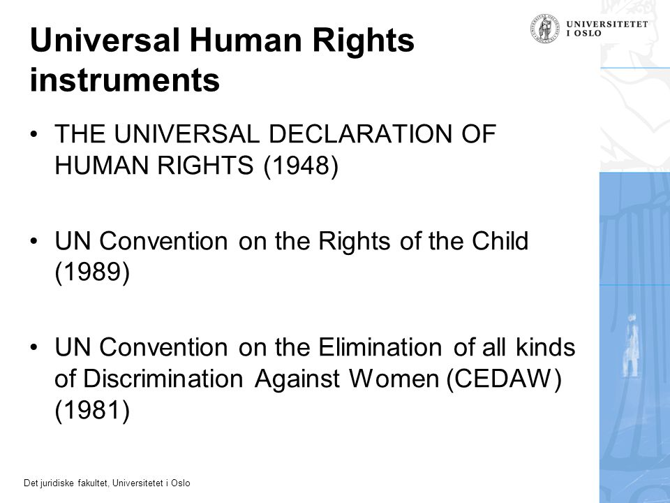 Universal Human Rights instruments