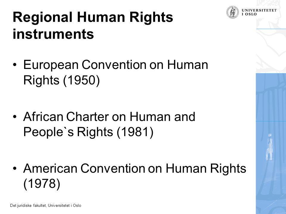 Regional Human Rights instruments