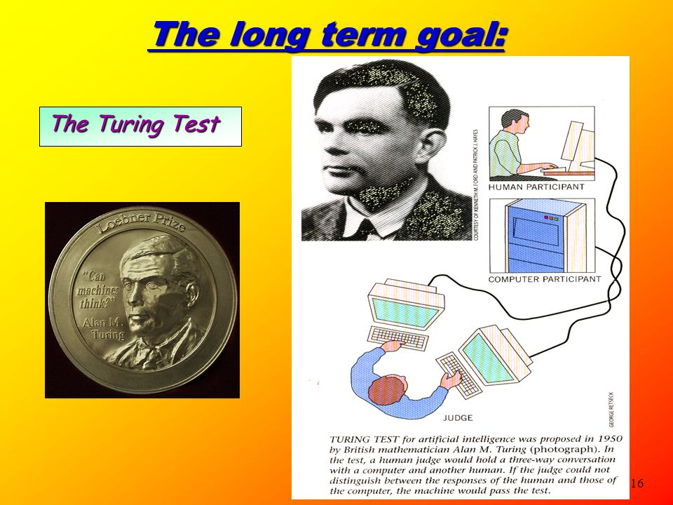 The long term goal: The Turing Test