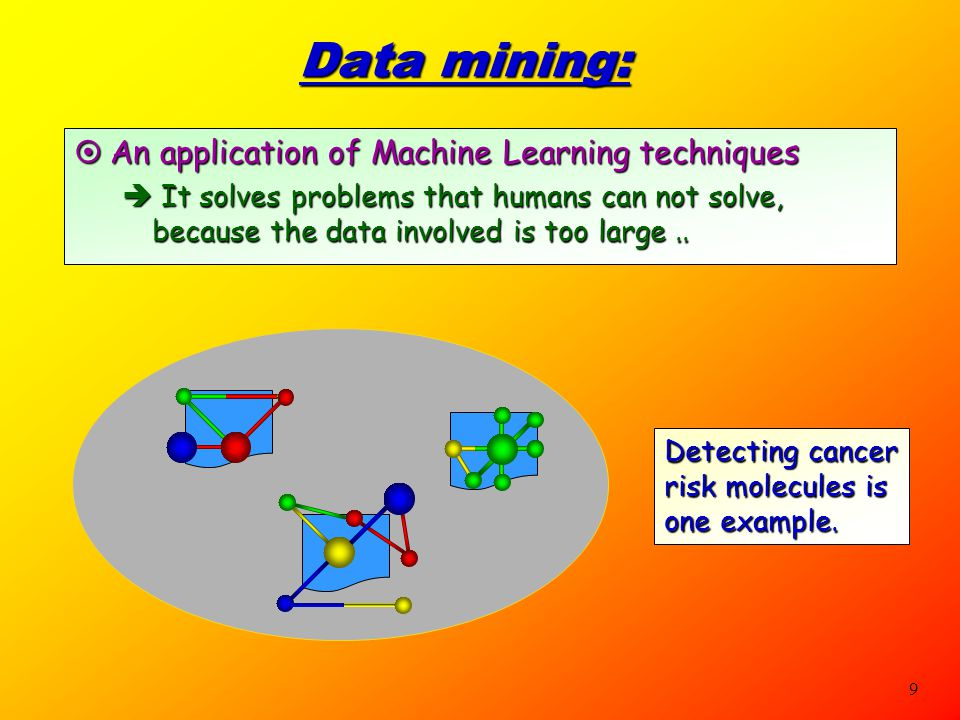 Data mining: An application of Machine Learning techniques