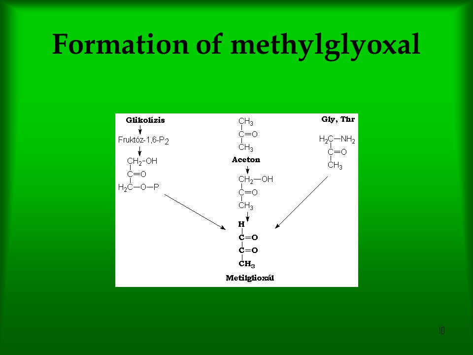 Formation of methylglyoxal