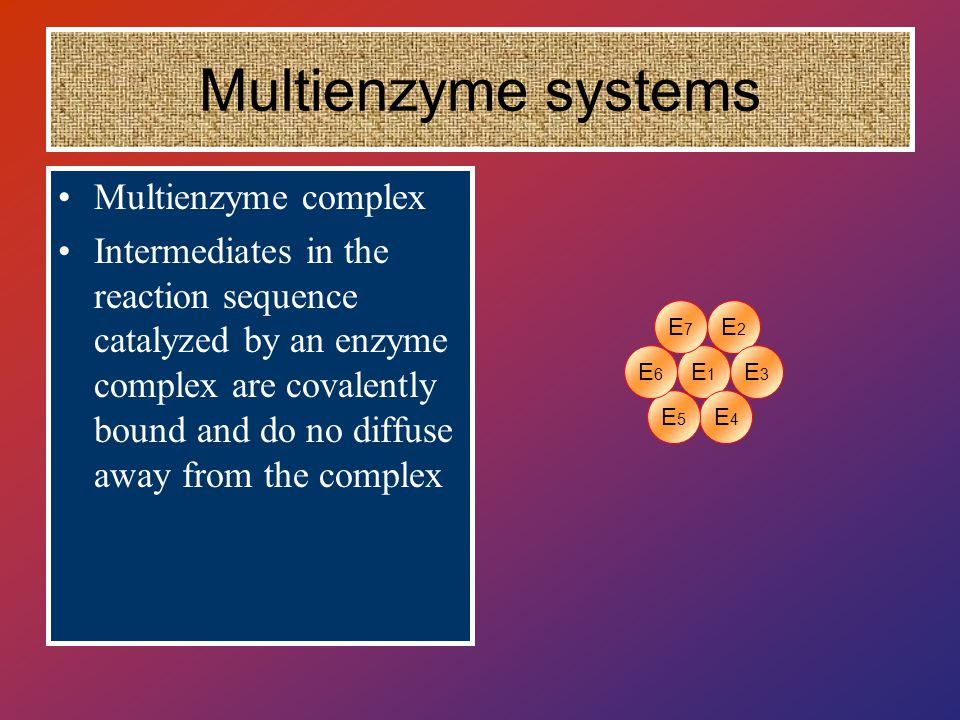Multienzyme systems Multienzyme complex