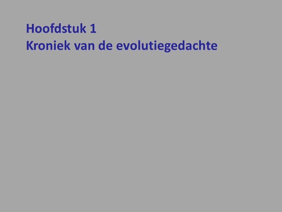 Hoofdstuk 1 Kroniek van de evolutiegedachte