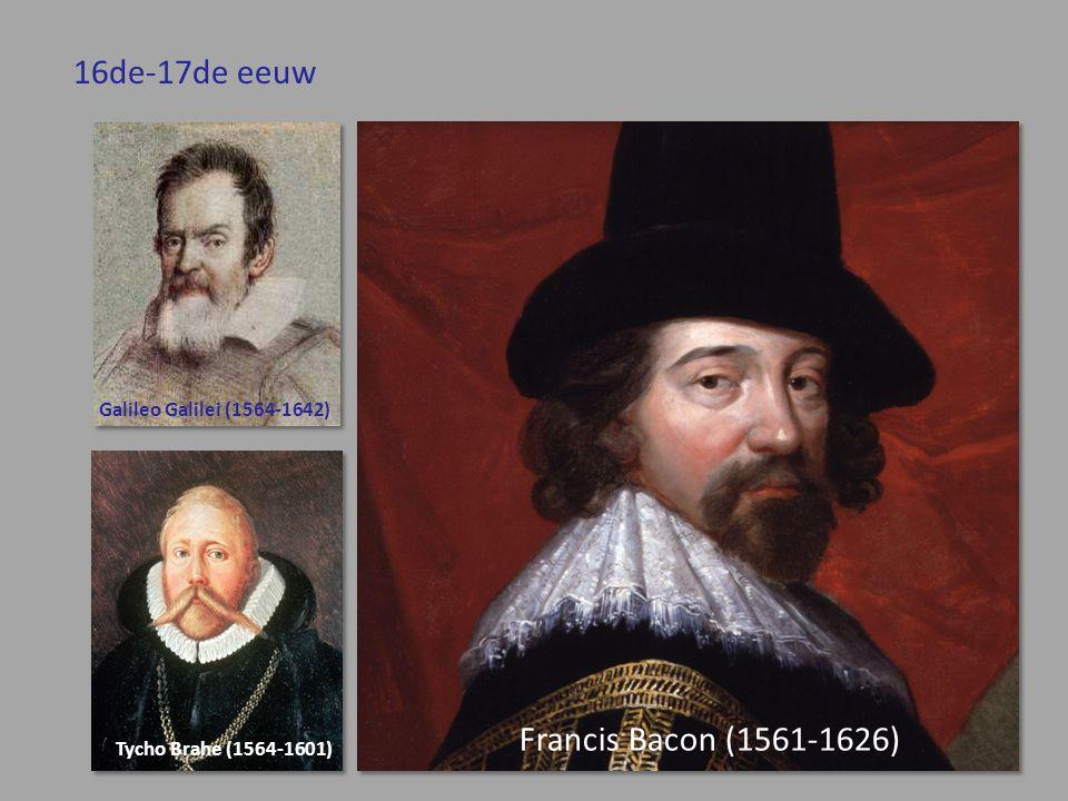 16de-17de eeuw Francis Bacon (1561-1626) Galileo Galilei (1564-1642)
