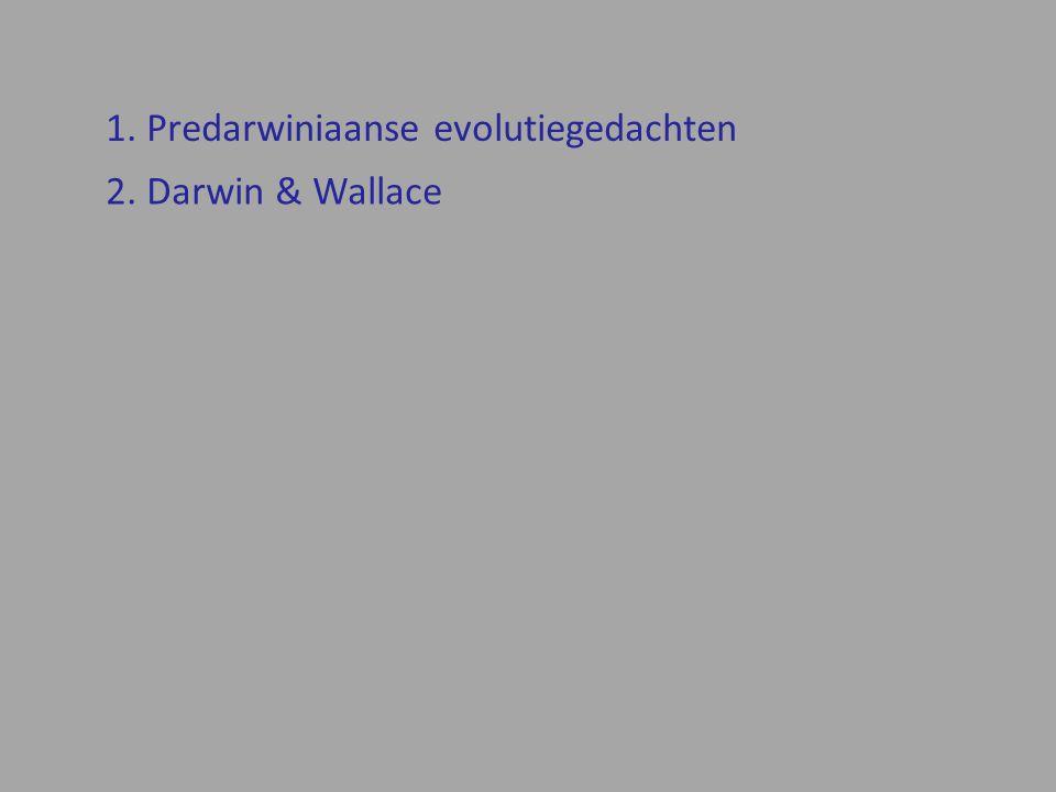 1. Predarwiniaanse evolutiegedachten
