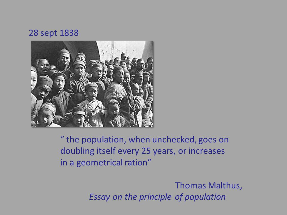 the population, when unchecked, goes on