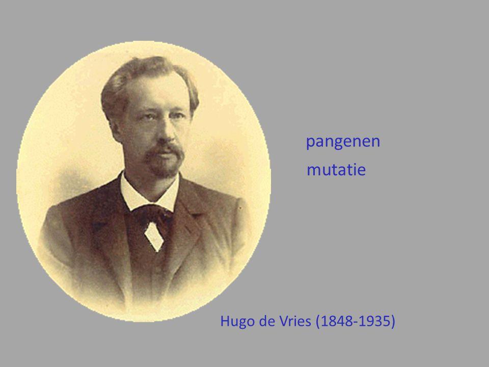 pangenen mutatie Hugo de Vries (1848-1935)