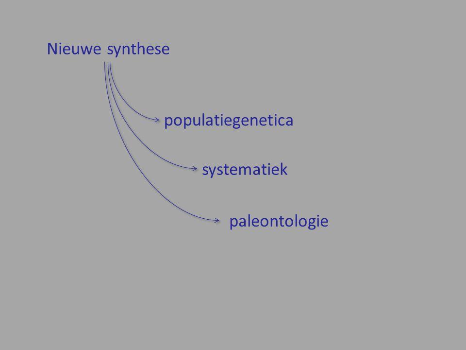 Nieuwe synthese populatiegenetica systematiek paleontologie