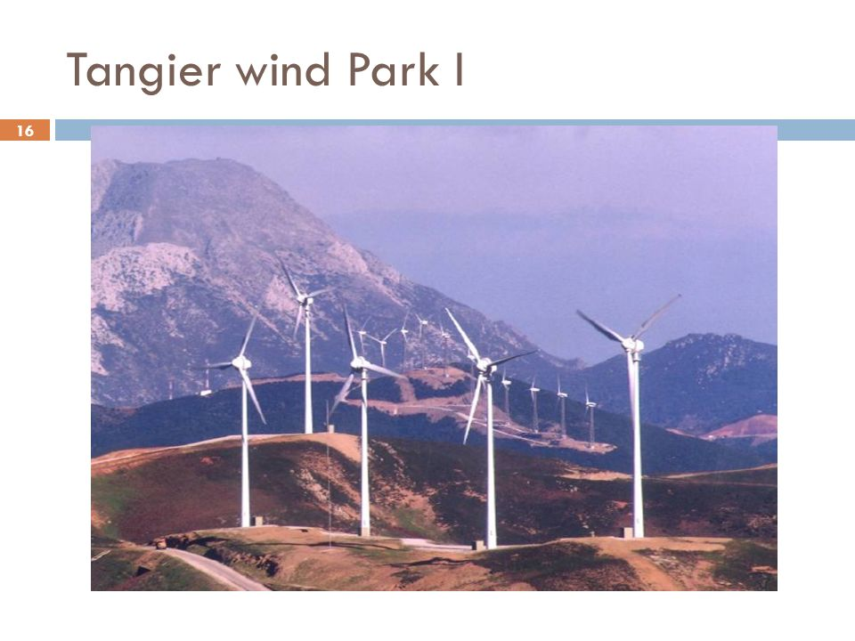Tangier wind Park I