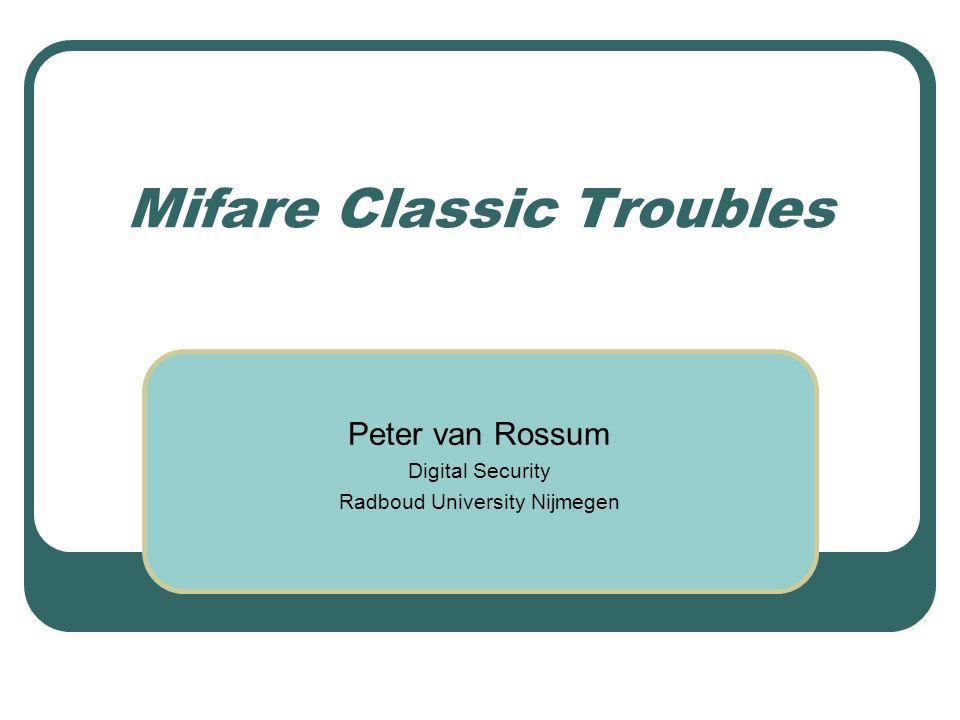 Mifare Classic Troubles