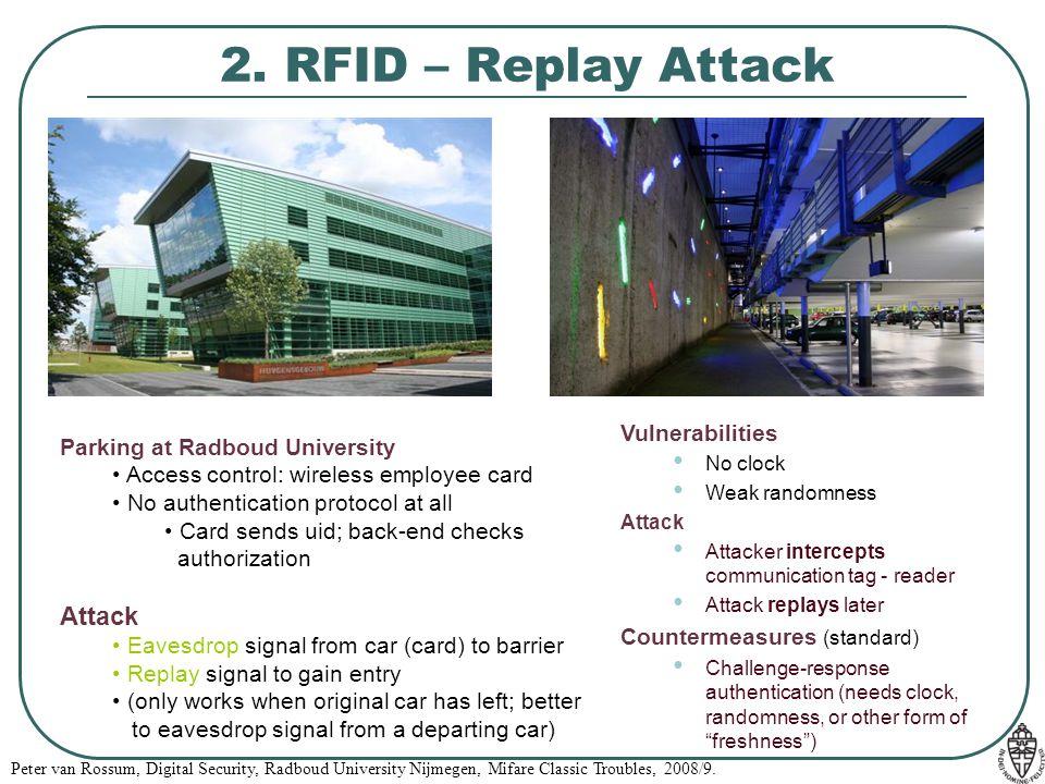 2. RFID – Replay Attack Attack Vulnerabilities