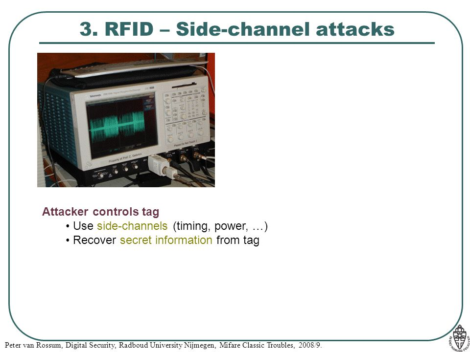 3. RFID – Side-channel attacks