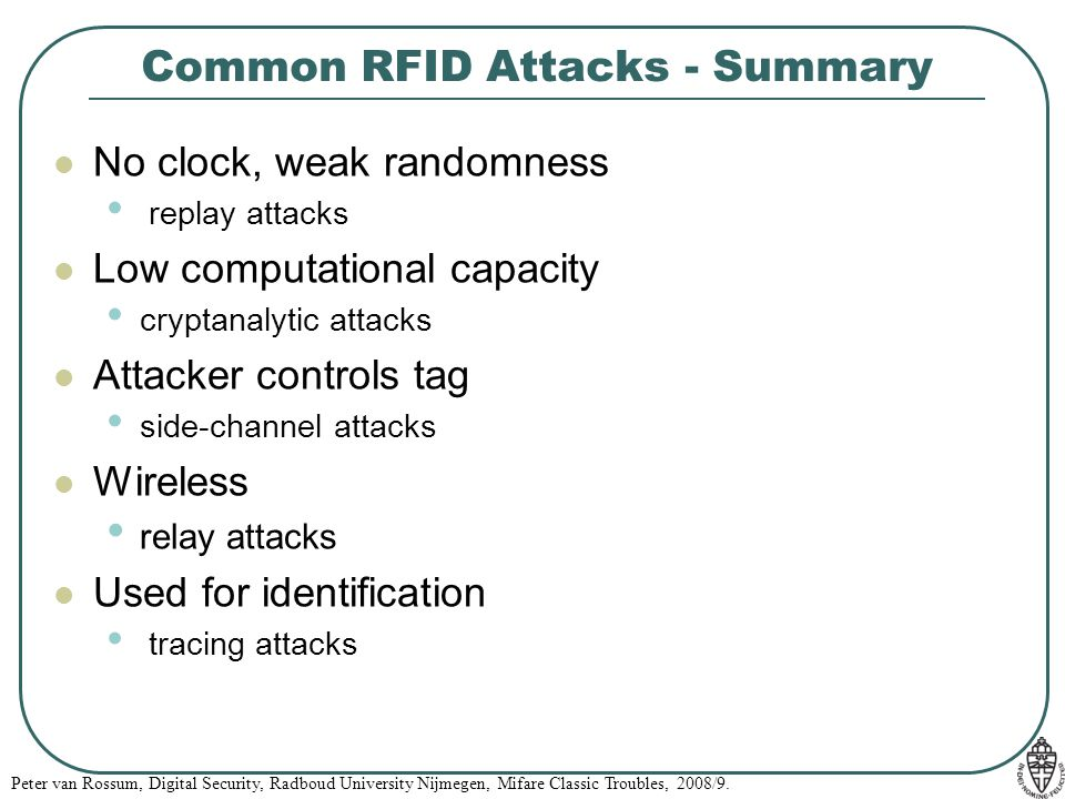 Common RFID Attacks - Summary