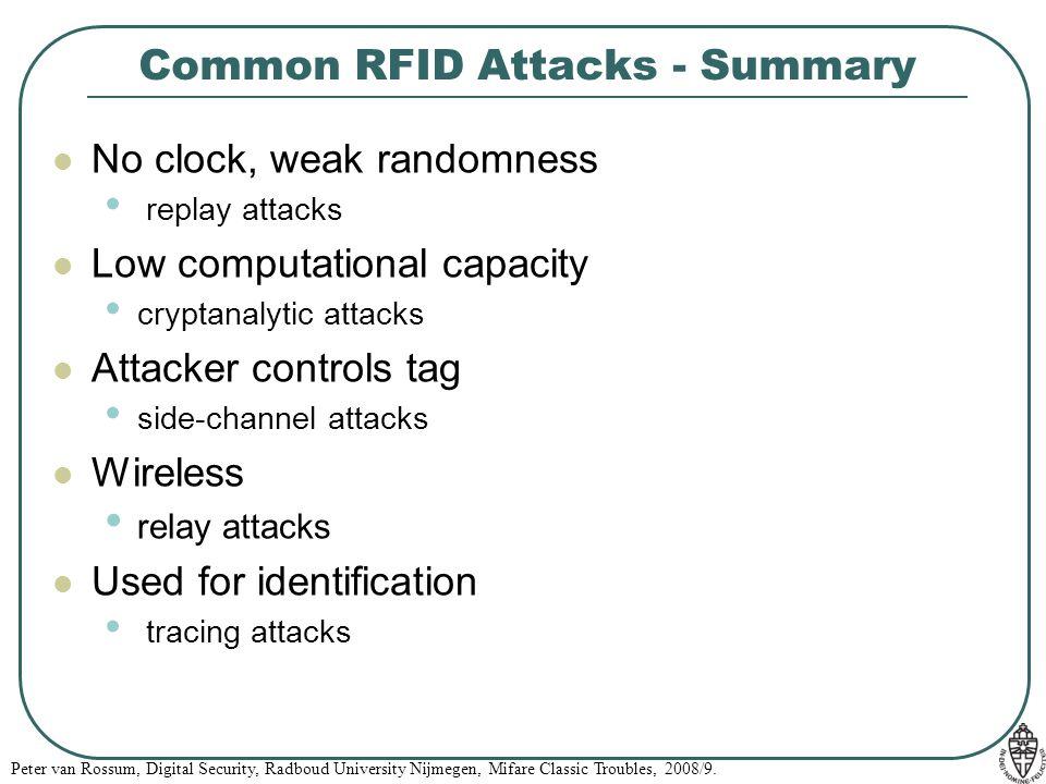 Common RFID Attacks - Summary