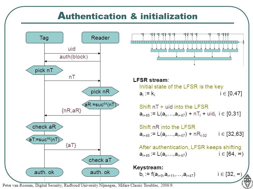 Authentication & initialization