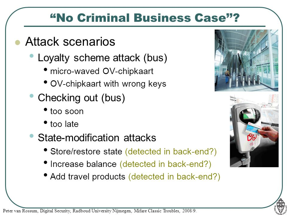 No Criminal Business Case''