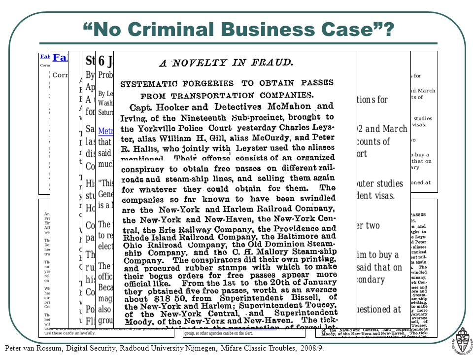 No Criminal Business Case
