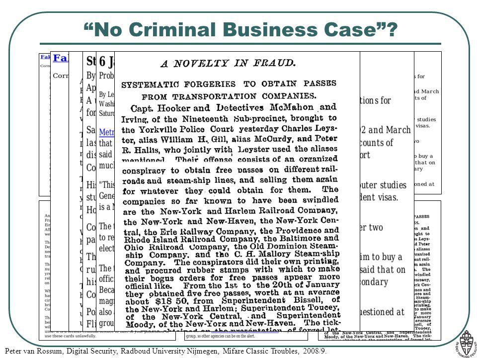 No Criminal Business Case